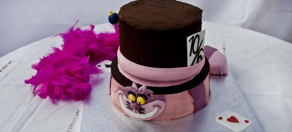 Tarta Cheshire y Sombrerero Loco