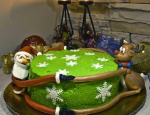 Tarta Papá Nöel y Rudolph